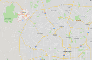 Helotes location on map