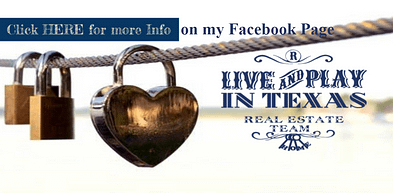 Live Play Texas Real Estate Team Facebook Cover with locks hanging on a wire