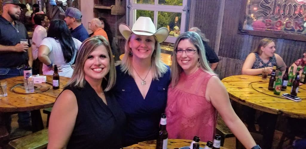My friends and me at Cooter Brown Saloon