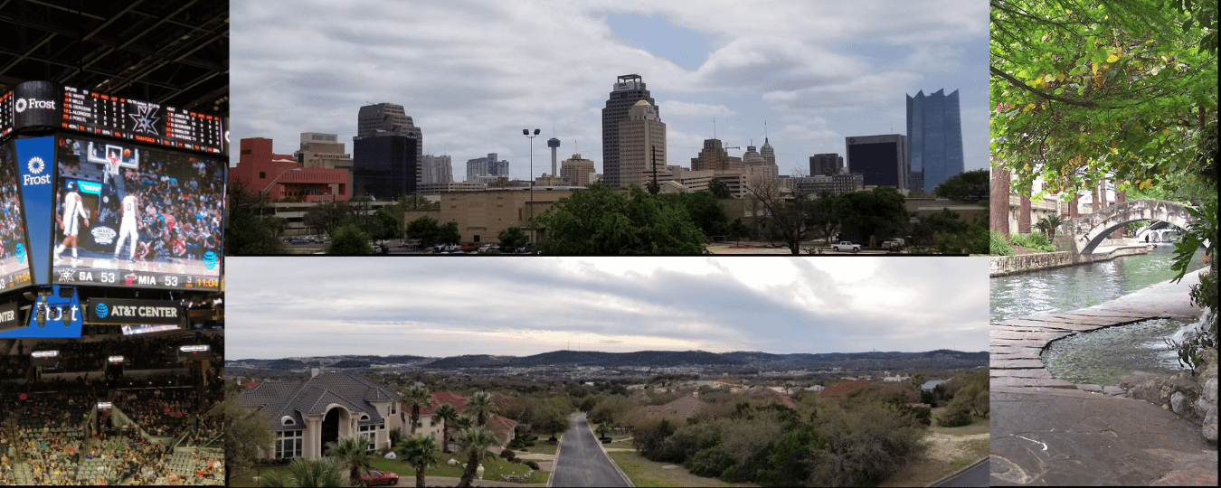 San Antonio views of city and rural communities