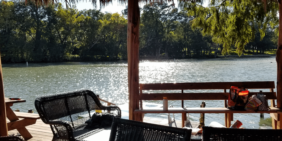gazebos on the river in new braunfels at son's island