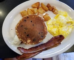 Pancake Breakfast with Chocolate Chips
